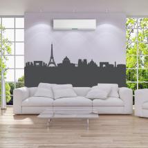 Decorative vinyl Skyline panoramic Paris
