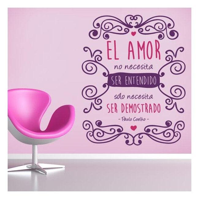 Decorative vinyl romantic phrase Paulo Coelho