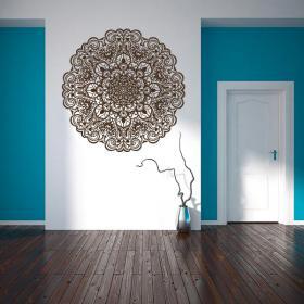 Luminescent panels dividing fluowall Mandala