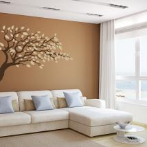 Vinyl decorative tree branch with leaves