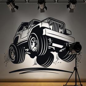 Decorative vinyl Jeep