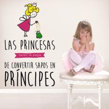 Decorative vinyl child the magic of princesses