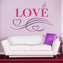 Decorative Vinyl Love English 1123