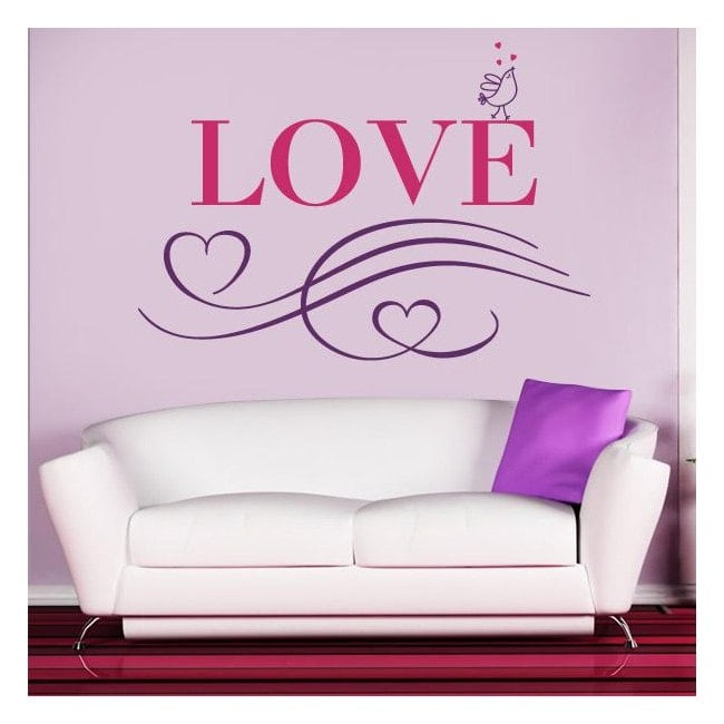 Decorative Vinyl Love English 1123