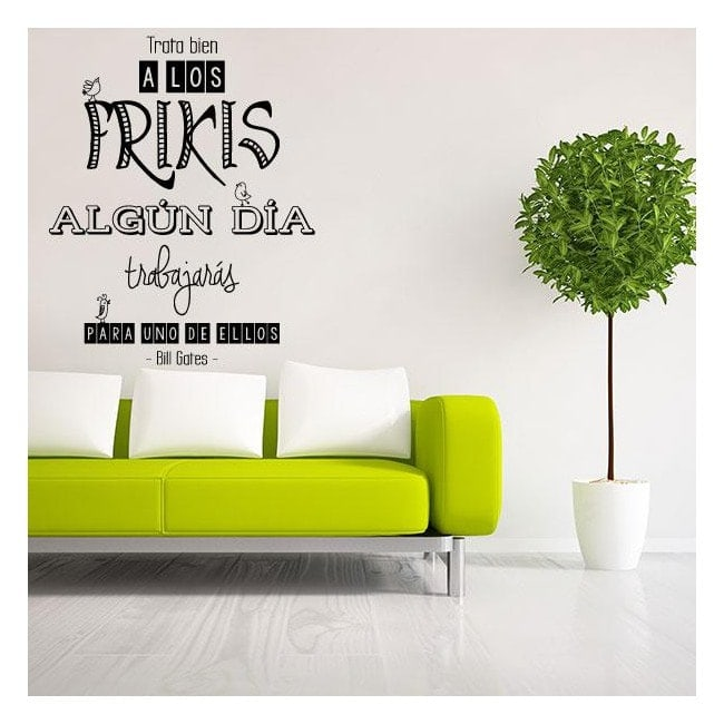 Decorative vinyl phrase Bill Gates
