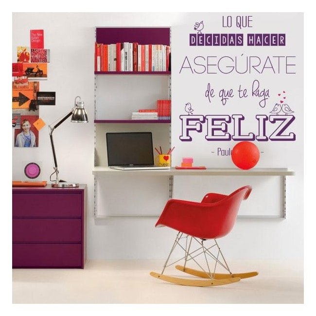 Vinyl adhesive decorative phrase Paulo Coelho