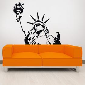 Decorative vinyl statue of liberty