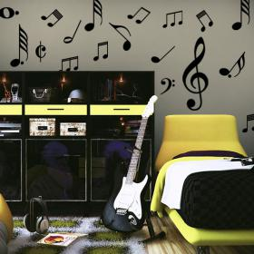 Decorative vinyl Kit musical notes