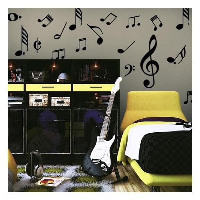 Decorative vinyl Kit musical notes