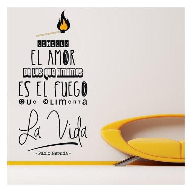 Decorative vinyl phrase Pablo Neruda
