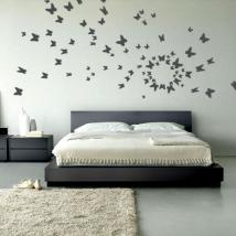 Vinyl decorative butterflies on the fly