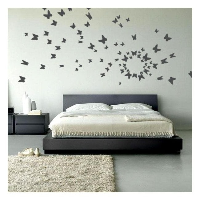 Vinyl decorative butterflies on the fly
