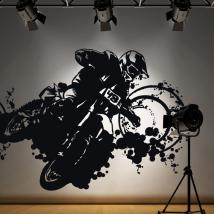 Vinyl adhesive decorative Motocross