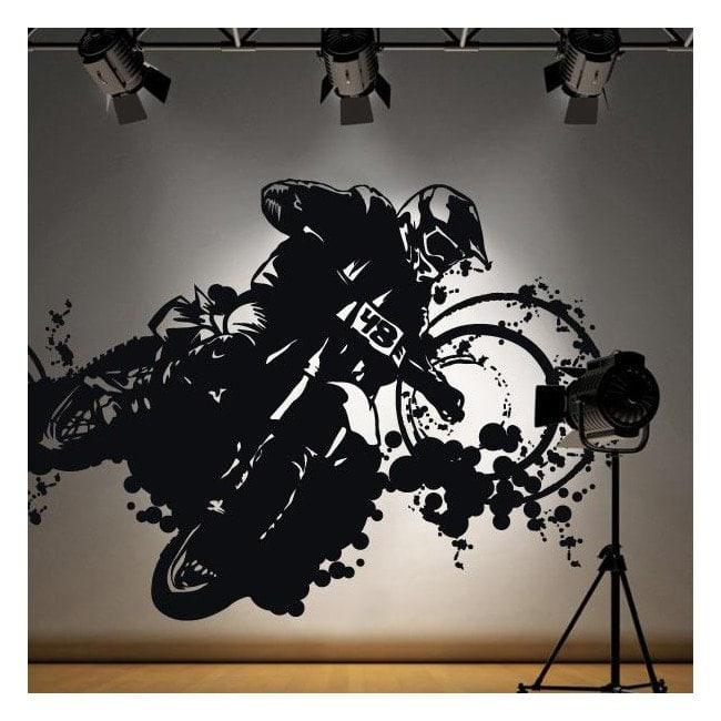 Vinyl adhesive decorative Motocross