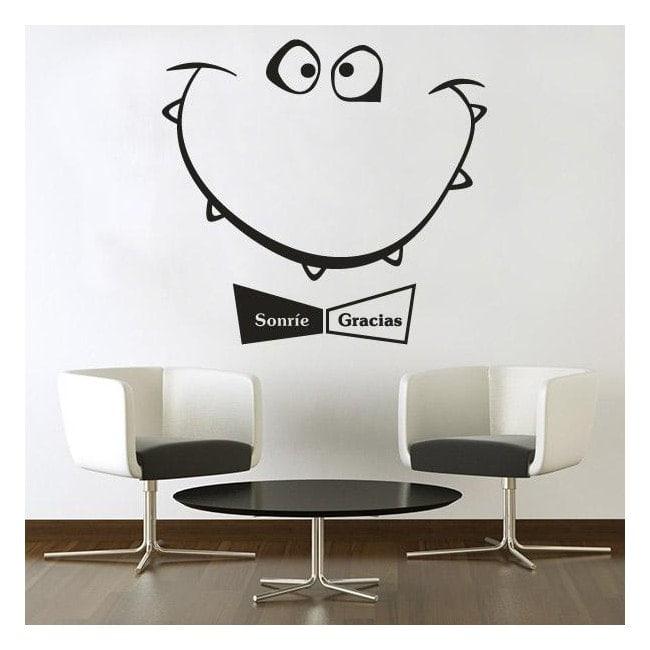 Decorative vinyl smiles and thanks