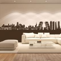 Vinyl adhesive decorative Skyline Madrid