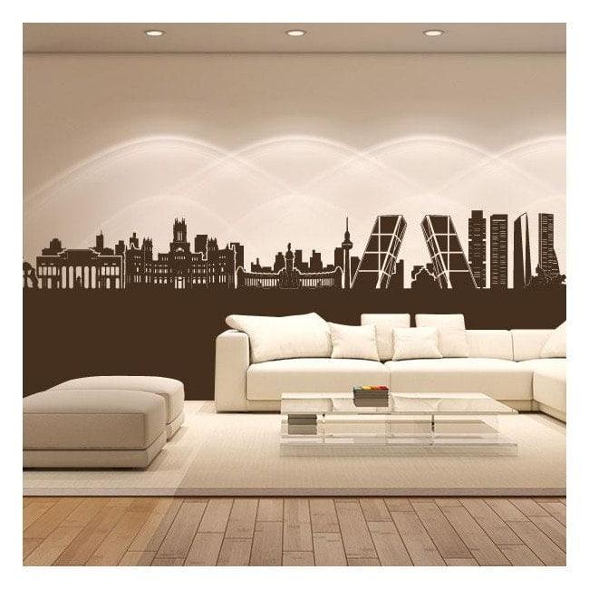Vinyl adhesive decorative Skyline Madrid