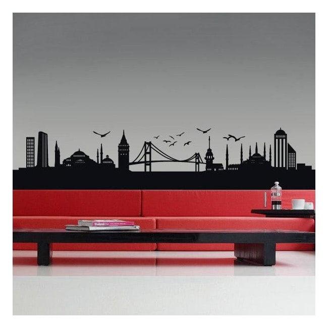 Decorative vinyl Istanbul Skyline