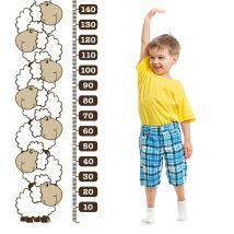 Decorative vinyl meter stature children's sheep