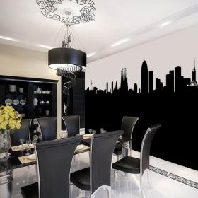 Skyline Barcelona decorative vinyl