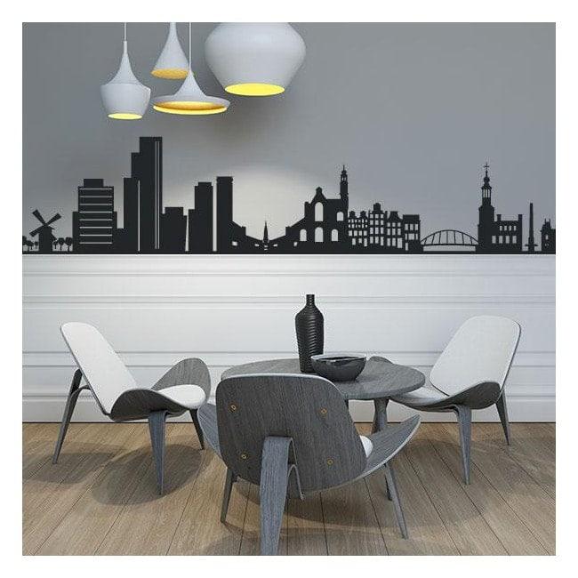 Skyline Amsterdam decorative vinyl