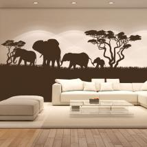 Decorative vinyl African elephants
