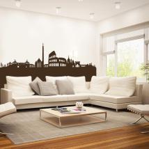 Decorative vinyl Rome Skyline