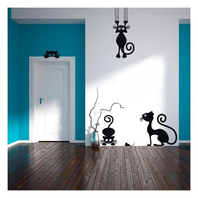 Luminescent panels dividing fluowall cats