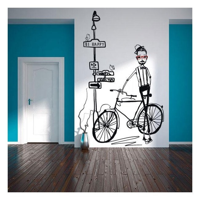 Vinyl decorative silhouette Hipster