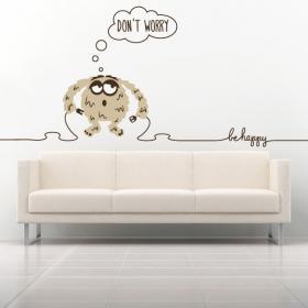 Decorative vinyl texts Be Happy