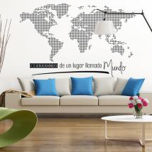 Vinyl world map of world citizens