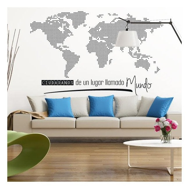 Vinyl world map of world citizens