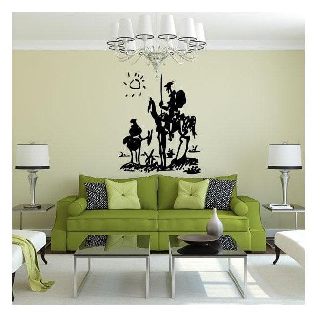 Luminescent panels dividing fluowall Pablo Picasso's Don Quixote