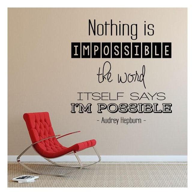 Vinyl decorative phrases Audrey Hepburn