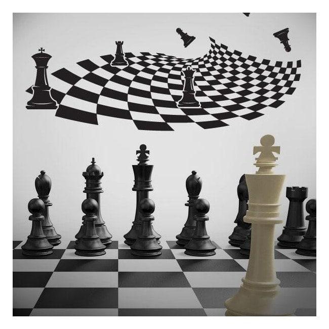 Adhesive decorative vinyl chess