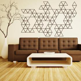 Vinyl decorative decoration triangles