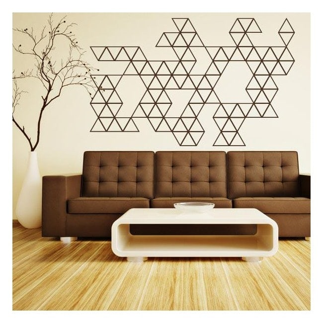 Vinyl decorative decoration triangles