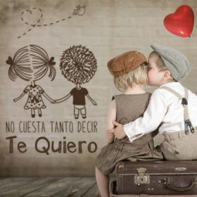 Decorative vinyl romantic phrases Te Quiero
