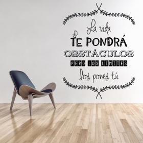Decorate walls quotes of life