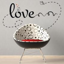 Decorate walls love phrases Love