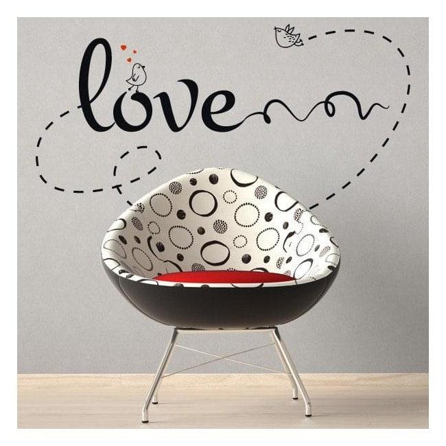 Decorate walls love phrases Love