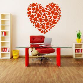 Vinyl decorative heart with hearts