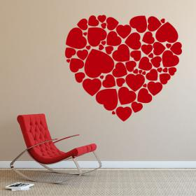 Decorative vinyl heart of hearts