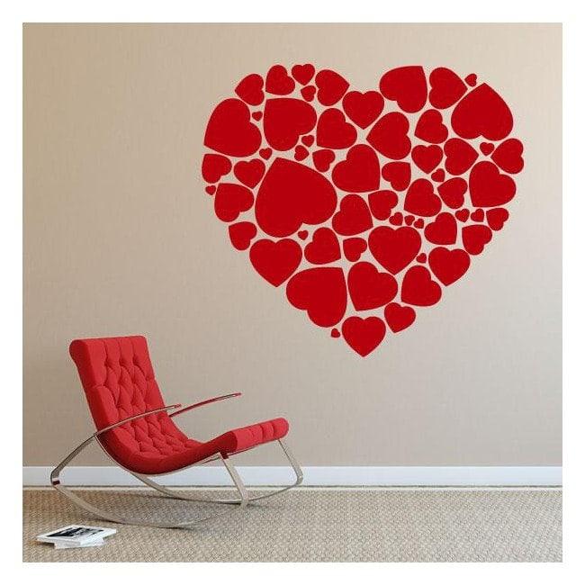 Decorative vinyl heart of hearts