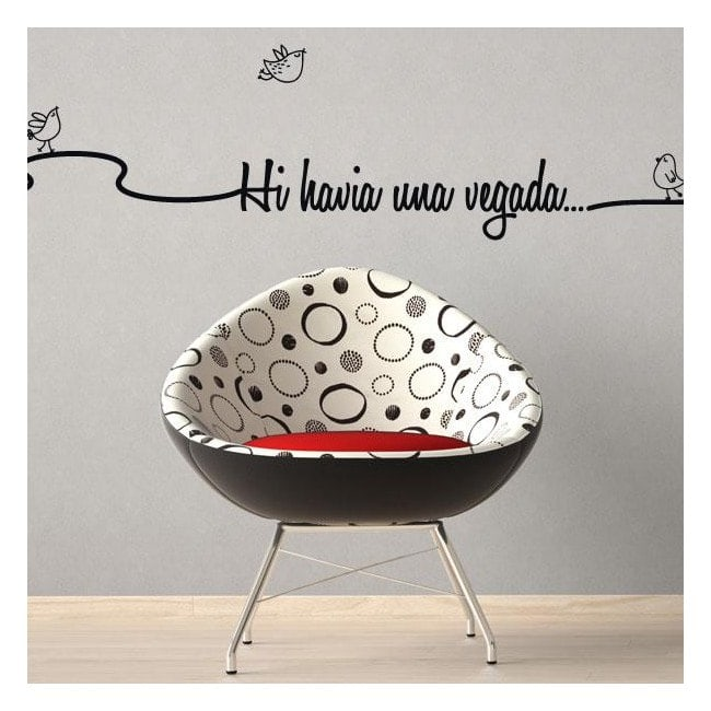 Vinyl decorative phrases once upon a time