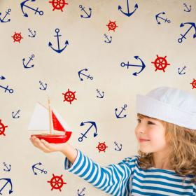 Decorative vinyl anchors and rudders