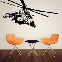 Luminescent panels dividing fluowall helicopter