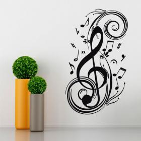 Vinyl music notes