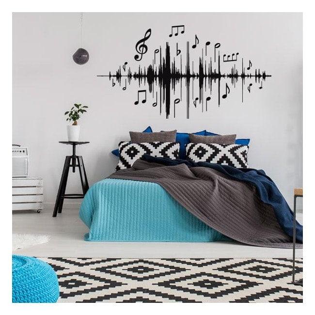 Vinyl music vibrations
