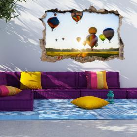 Vinyl 3D hot air balloons